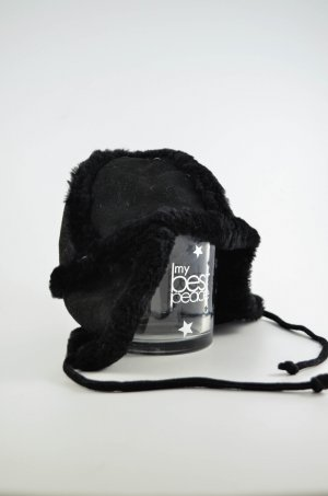 Paul Smith Cappello in pelliccia nero Pelliccia