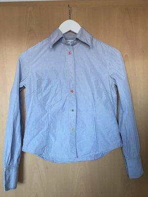 Paul Smith Camicia a maniche lunghe azzurro Cotone