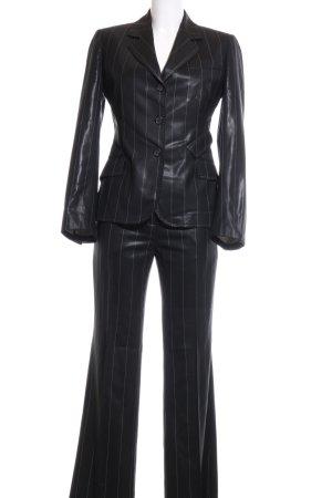 Paul Smith Hosenanzug schwarz Streifenmuster extravaganter Stil