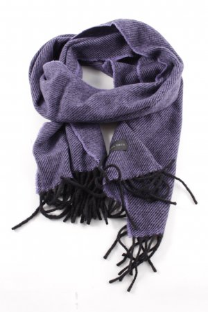 Paul Smith Sjaal van kasjmier lila-zwart gestreept patroon casual uitstraling