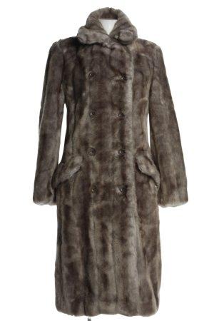Paul Smith Płaszcz ze sztucznym futrem brązowy W stylu casual