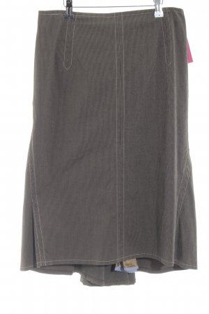 Paul Smith Midirock schwarz-graubraun Streifenmuster Elegant
