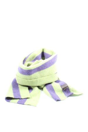 Paul Smith Bufanda de punto verde-lila estampado a rayas look casual