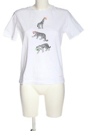 Paul Smith T-shirt bianco-nero Stampa a tema stile casual