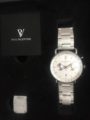 Paul Valentine Self-Winding Watch silver-colored