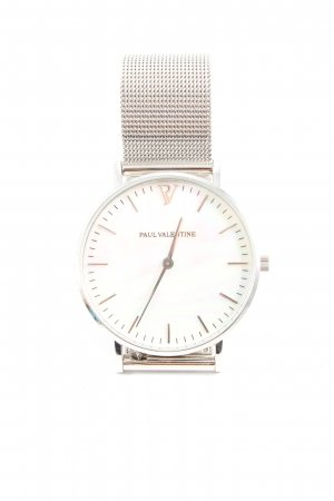 Paul Valentine Reloj analógico color plata look casual