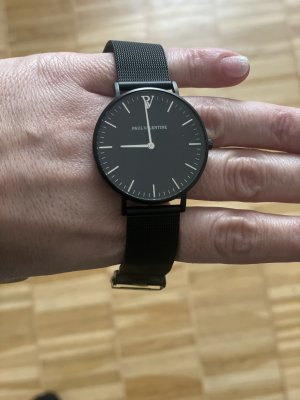 Paul Valentine Reloj con pulsera metálica negro