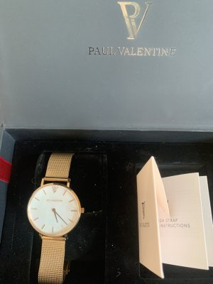 Paul Valentine Watch With Metal Strap rose-gold-coloured