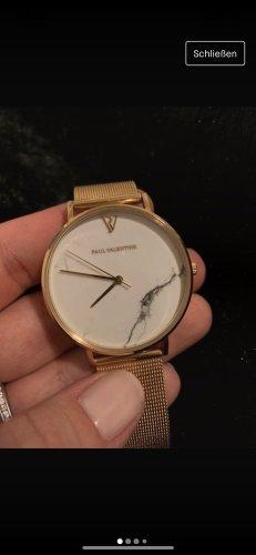 Paul Valentine Reloj analógico blanco-color oro