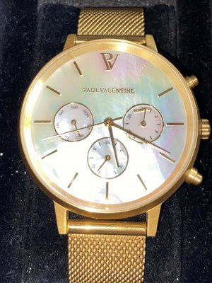 Paul Valentine Watch With Metal Strap multicolored