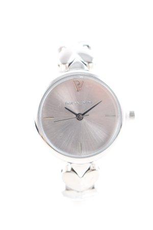 Paul Valentine Uhr mit Metallband silberfarben Casual-Look