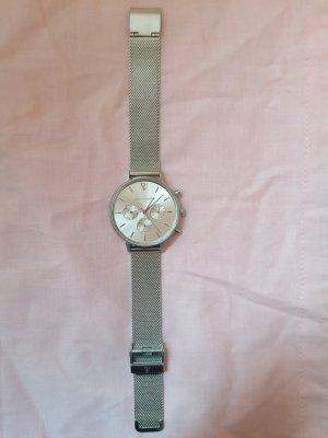 Paul Valentine Uhr multifunctional mesh Silber