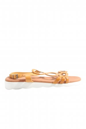 Paul Vesterbro T-Strap Sandals light orange casual look