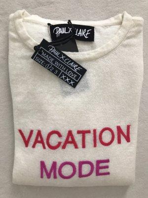 PAUL X CLAIRE Pullover Ecru, 36/S, Fleecewolle & Kaschmir