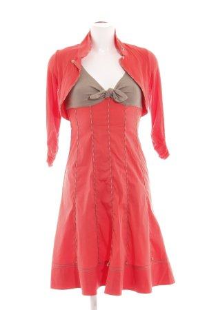 Paule ka A-Linien Kleid rot-braun Elegant
