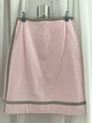 Paule ka Midi Skirt ocher-light pink cotton
