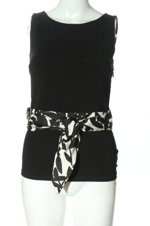 Paule ka Slip-over Blouse black-white abstract pattern business style