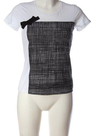 Paule ka T-Shirt white-black themed print casual look
