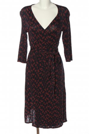 Paulina Wraparound black-red abstract pattern casual look