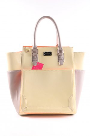 Pauls Boutique Handtasche creme-pink Business-Look