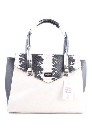 Pauls Boutique Handtasche weiß-schwarz Animalmuster Business-Look