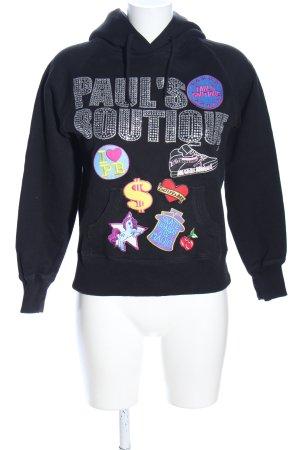 Pauls Boutique Kapuzensweatshirt schwarz Motivdruck Casual-Look