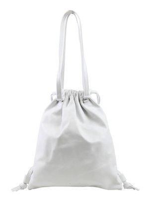 PB 0110 Rucksack in Weiß aus Leder