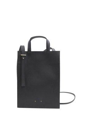 PB 0110 Umhängetasche in Schwarz aus Leder