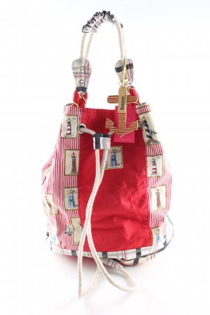 PE FLORENCE Stofftasche rot-weiß Motivdruck Casual-Look
