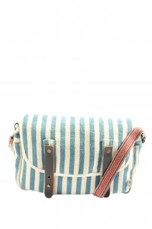 PE FLORENCE Canvas Bag blue-cream striped pattern casual look