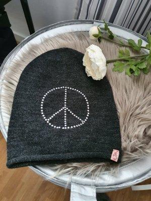 keine Marke Cappello a maglia argento-grigio scuro