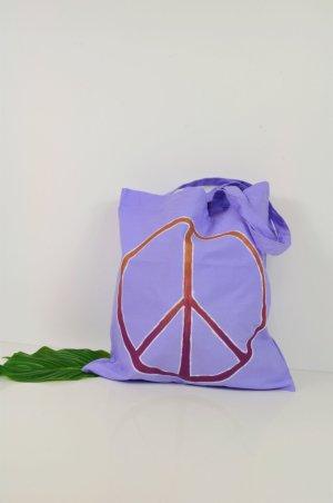 PEACE Tasche / Einkaufstasche in Flieder mit Bronze und Beere