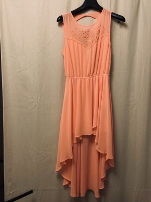 Amisu Chiffon Dress apricot