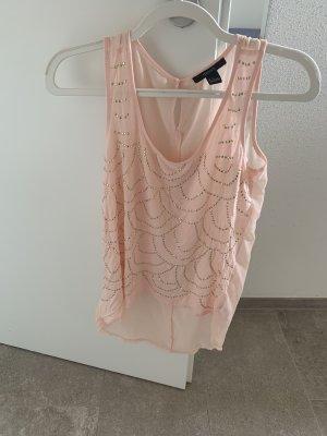 Peach Rosa gold Bluse