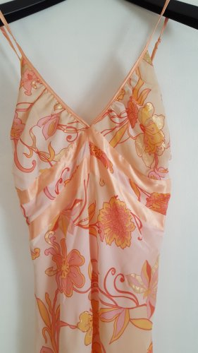 Peach Träger Kleid