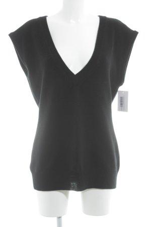 Peak performance Fijn gebreide cardigan zwart simpele stijl