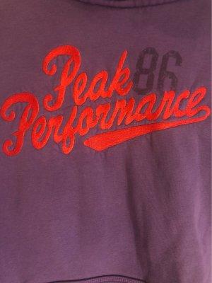 Peak performance Maglione con cappuccio rosso-viola scuro