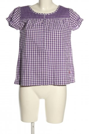 Peak performance Short Sleeved Blouse lilac-white check pattern casual look