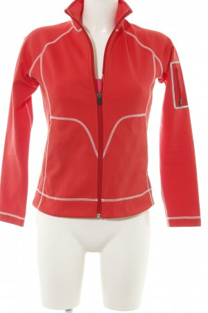 Peak performance Outdoorjacke rot-weiß Casual-Look