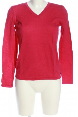Peak performance V-Ausschnitt-Pullover rot Casual-Look