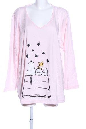 Peanuts Pyjama schwarz-wollweiß Allover-Druck Casual-Look