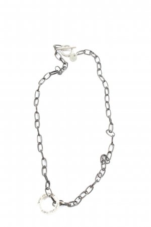 pearls for girls Link Chain light grey casual look