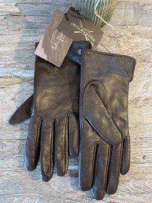 Pearlwood Guanto in pelle marrone-nero