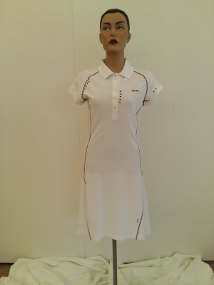Robe Polo blanc lin