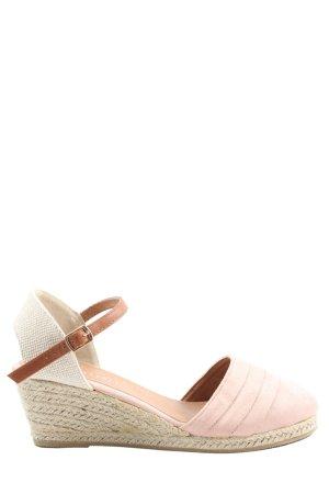 Peckott Espadrille Sandals pink-cream casual look