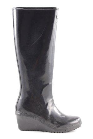 Peckott Botte en caoutchouc noir style décontracté