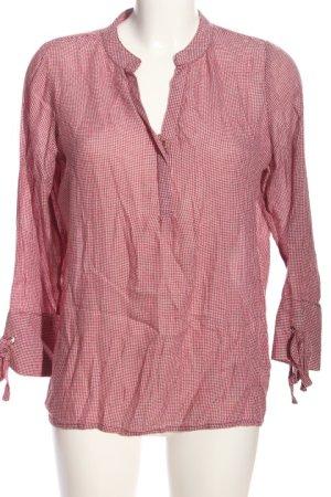 Peckott Hemd-Bluse pink-weiß Karomuster Casual-Look