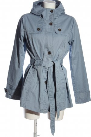 Peckott Hooded Coat blue casual look