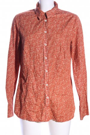 Peckott Long Sleeve Blouse red-cream allover print casual look