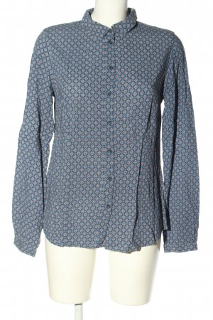 Peckott Long Sleeve Blouse blue-natural white allover print casual look